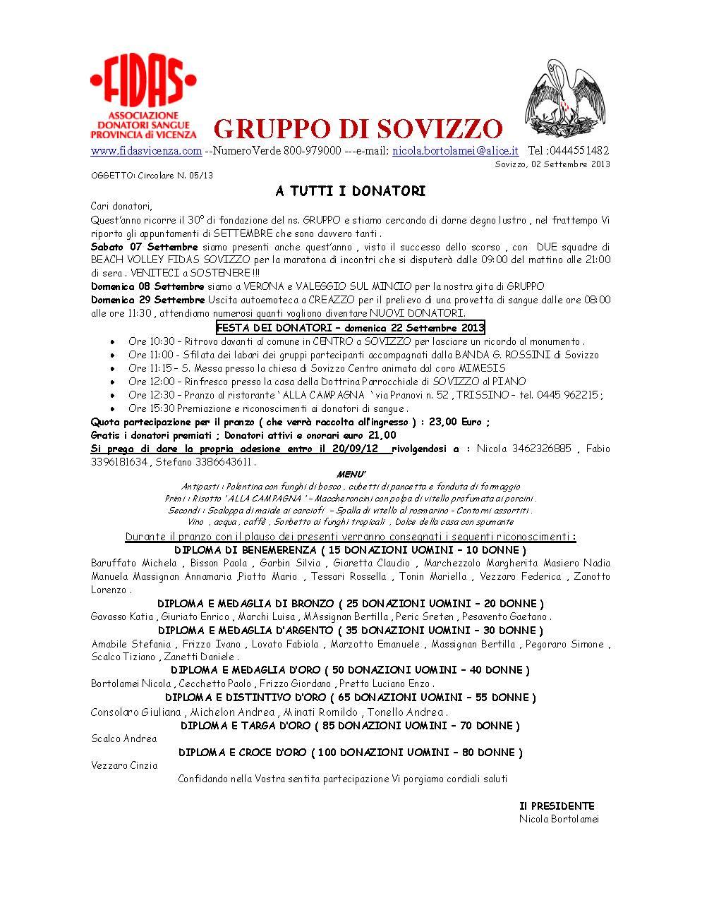 Appuntamenti Settembre 2013