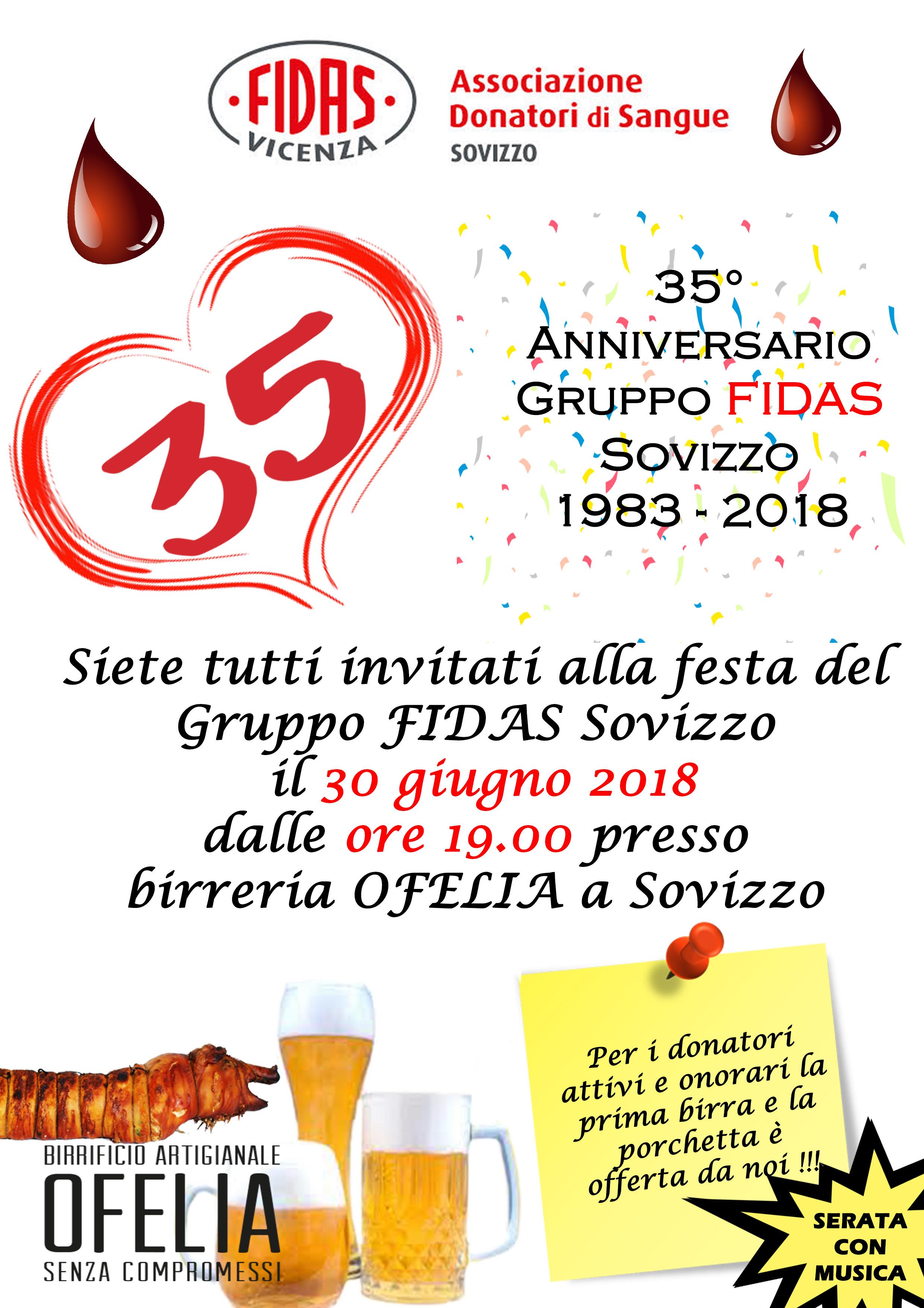 Locandina Festa 35° Fidas Sovizzo