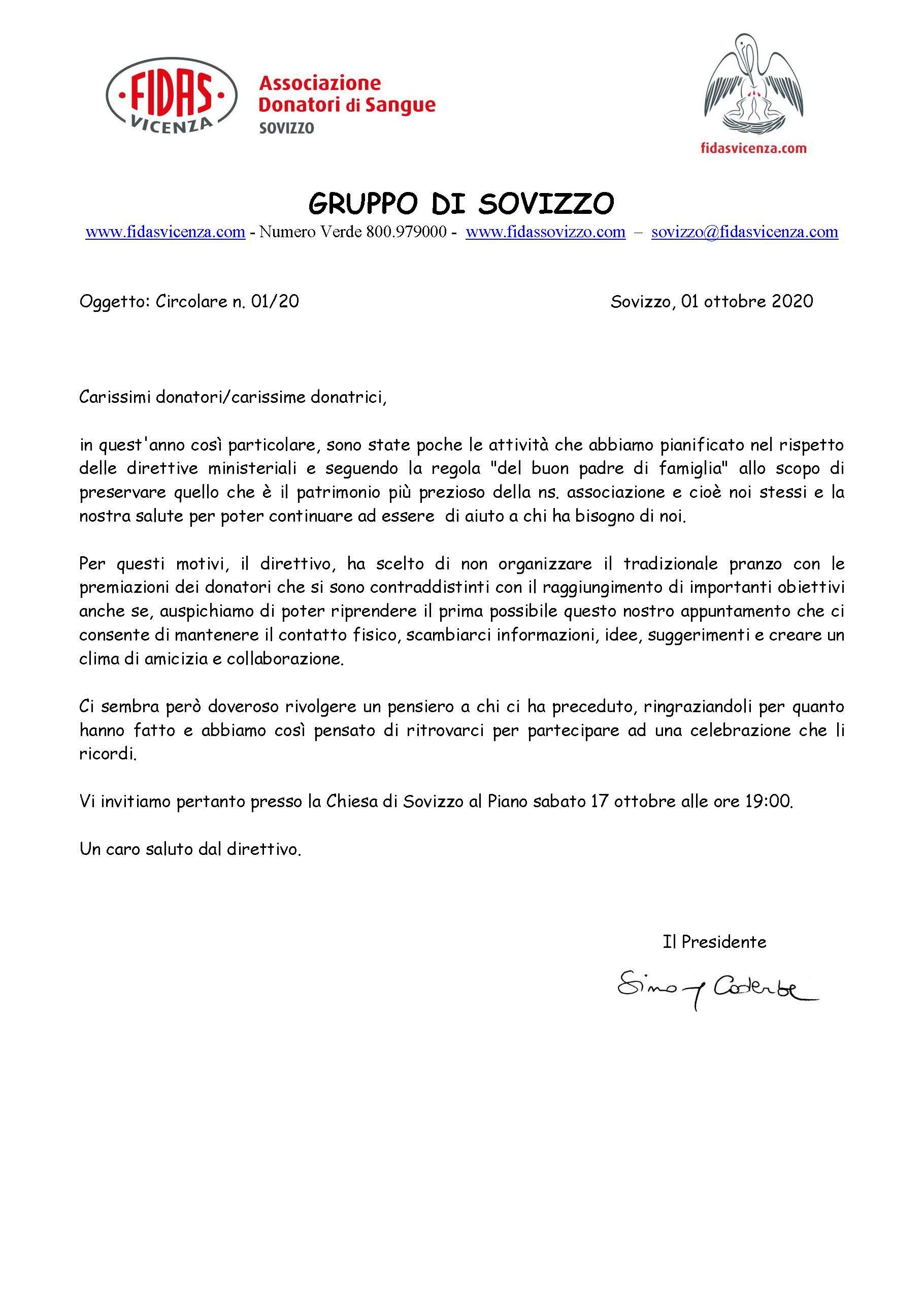 Circolare Fidas Sovizzo  01 -2020