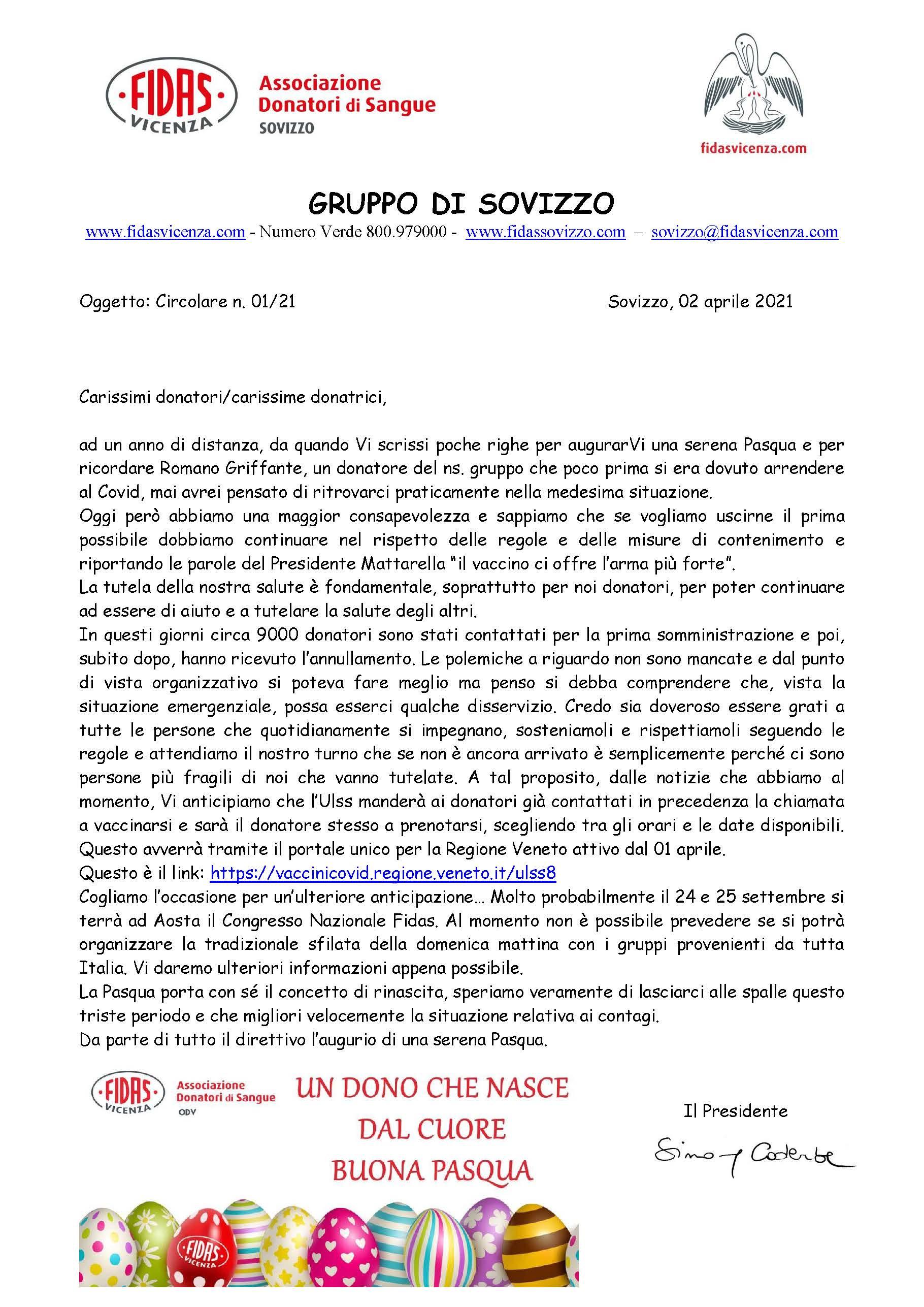 Circolare Fidas Sovizzo 01-2021